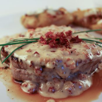 Filet Mignon With Bacon Sauce | www.notafoodexpert.com