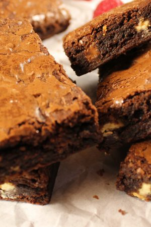 Double Belgian Chocolate Brownie | www.notafoodexpert.com