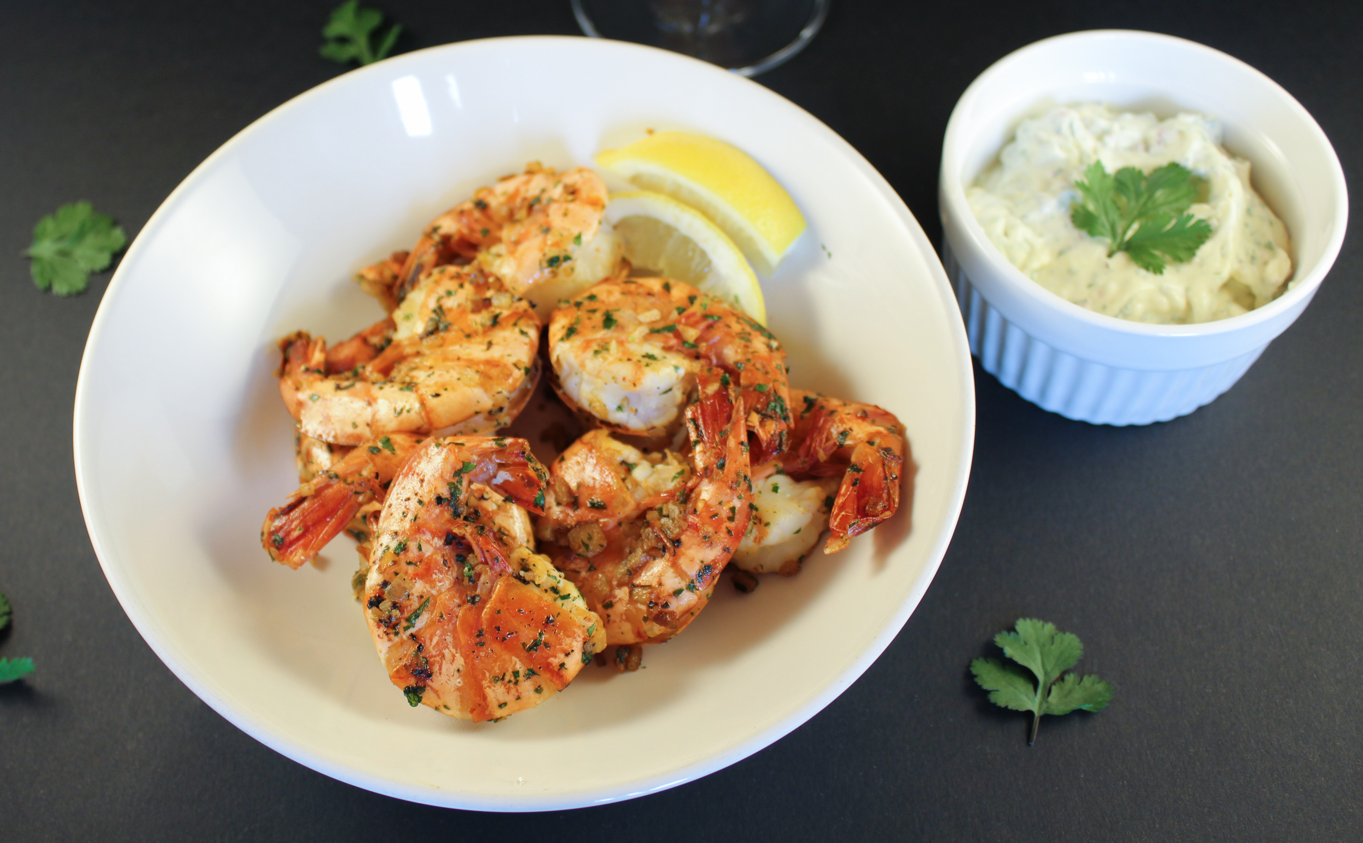Spicy Tiger Shrimps with Onion Mayo | www.notafoodexpert.com
